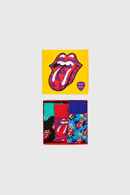 unisex Happy Socks Rolling Stones Sock Box Set