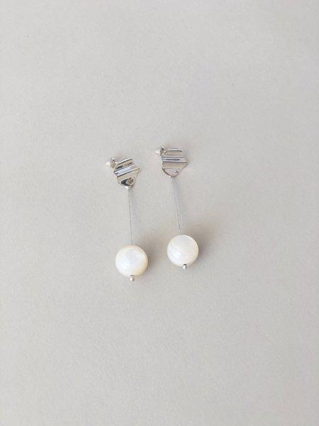 Luiny Madre Perla Drop Earrings - Silver