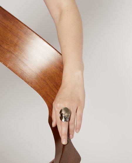 JULIE THÉVENOT Large araped ring - silver