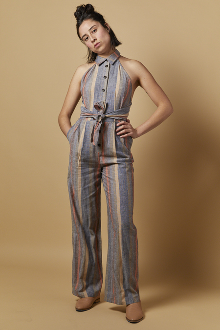Current Air Color Block Jumpsuit - Shadow/Blush/Taupe