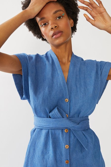 Heinui Aiko Jumpsuit Japanese - Chambray