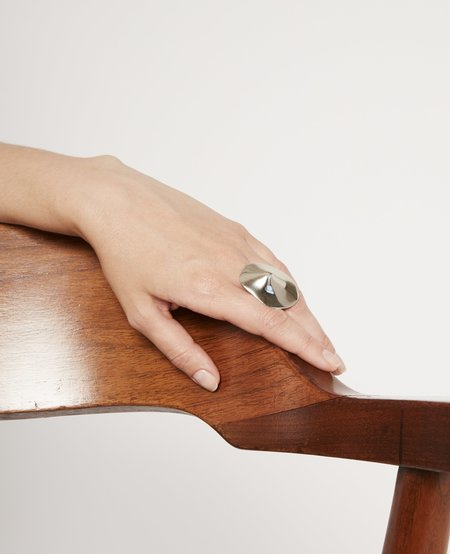 JULIE THÉVENOT Small araped ring - silver
