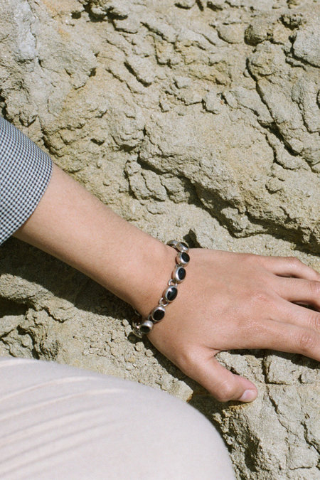 Vintage Taxco Bracelet - Sterling/Onyx
