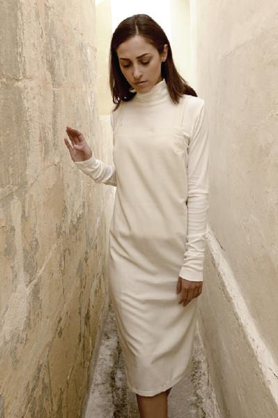 Signe 90s Raw Silk Dress