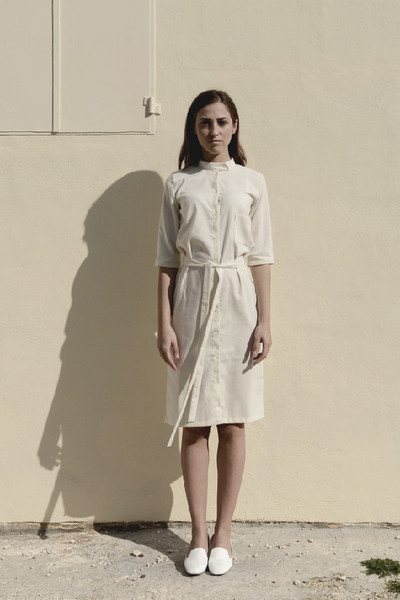 Signe Raw Silk Shirt Dress