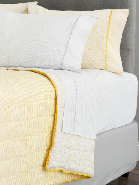mia + finn myla cotton sheet set - Pale Grey