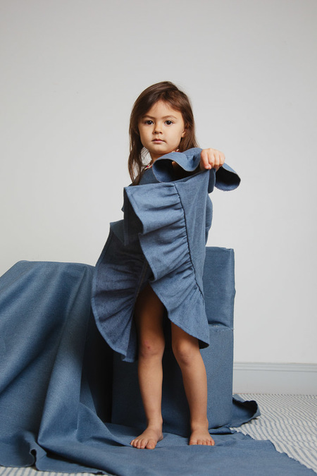 Kids Kiboro Sant'Angelo dress - blue