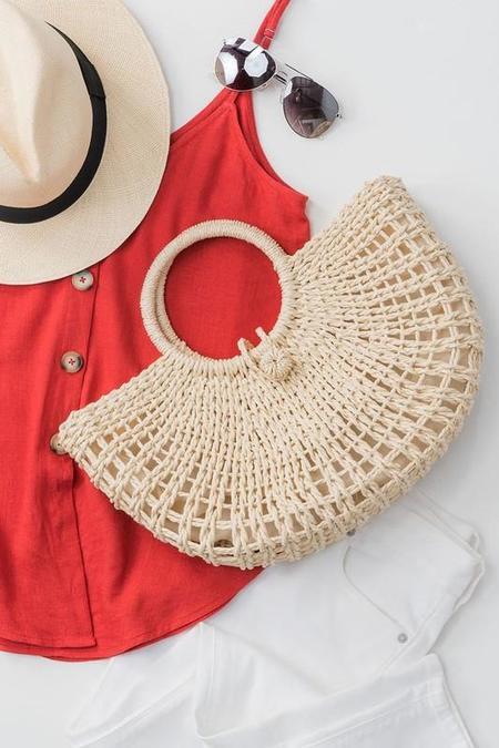 Ellison Jute Summer Basket Bag - natural