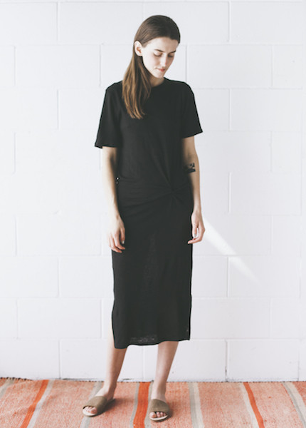 Objects Without Meaning - Twist Tee Dress in Black