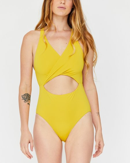 Esby Maria Cut Out One-piece - Curry