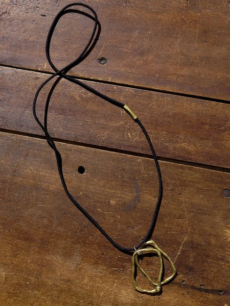 nan collymore NN brass double oblong necklace