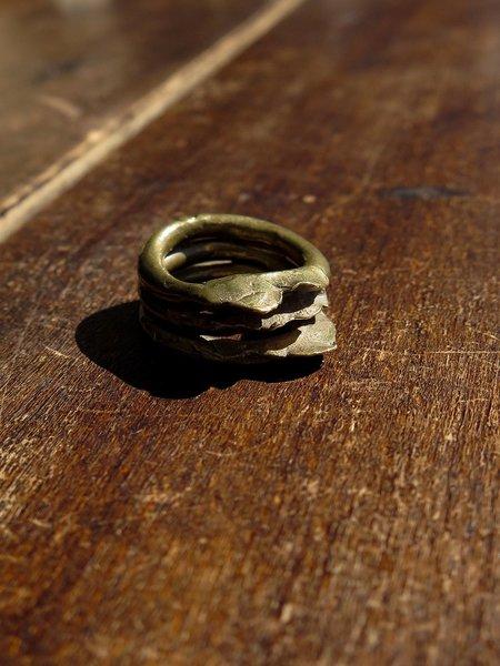 nan collymore NN brass tier ring