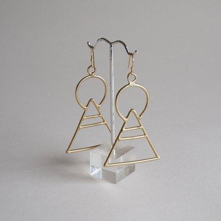 Castaway Creations Geometric Bronze Earrings