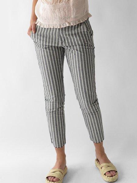 local guia stripe pant - black