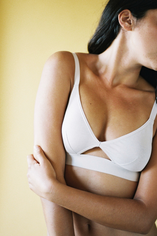 The Nude Label Cut Out Bra- Off White