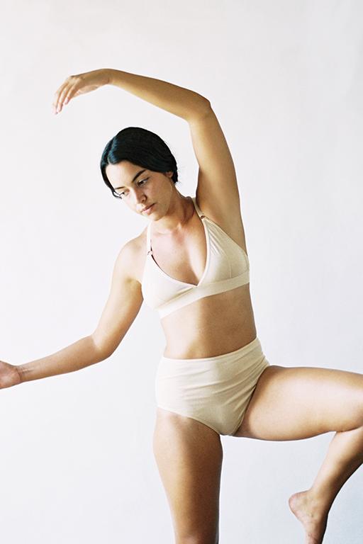 The Nude Label Triangel Crossback Bra- Nude