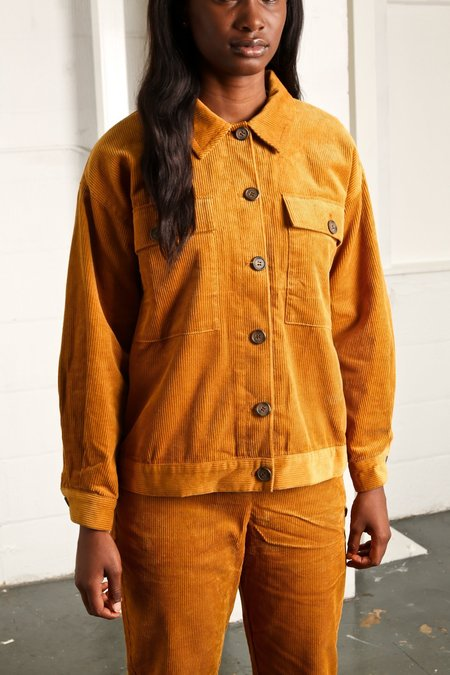 Native Youth MANCHESTER CORD JACKET - Mustard