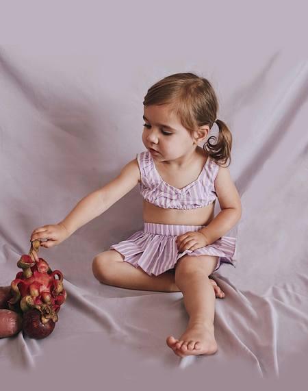 Kids Wovenplay Organic Bikini - Lavender