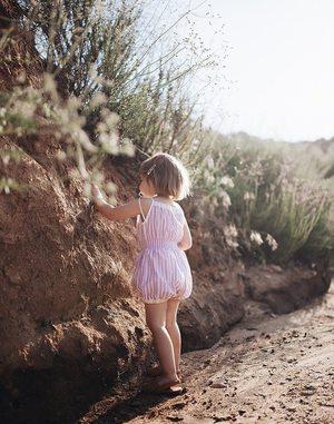 Kids Wovenplay Organic Jada Sunsuit - Lavender