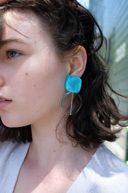 Rachel Comey Arc Earrings - Aqua Marble