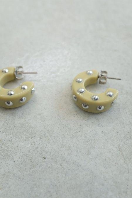 Rachel Comey Cuba Earrings Studs - Vanilla Silver