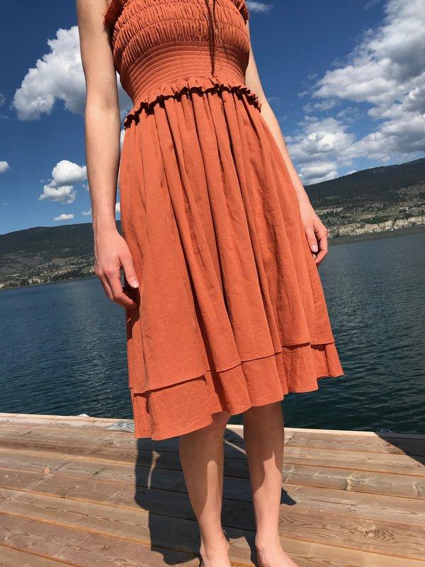 Loup Charmant Corolla Dress - Terracotta