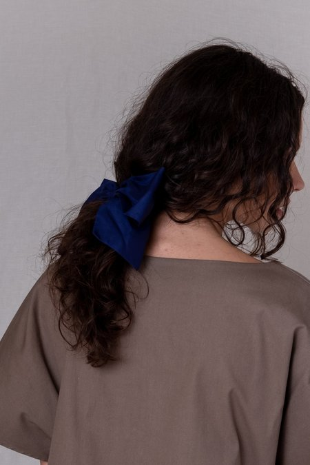 Bianca and Red CLASSIC LARGE BOW - NAVY