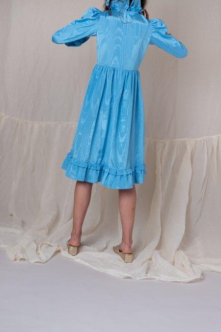 BATSHEVA PRAIRIE DRESS - BLUE MOIRE