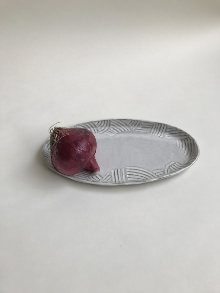 A.Cheng Oval Carved Platter