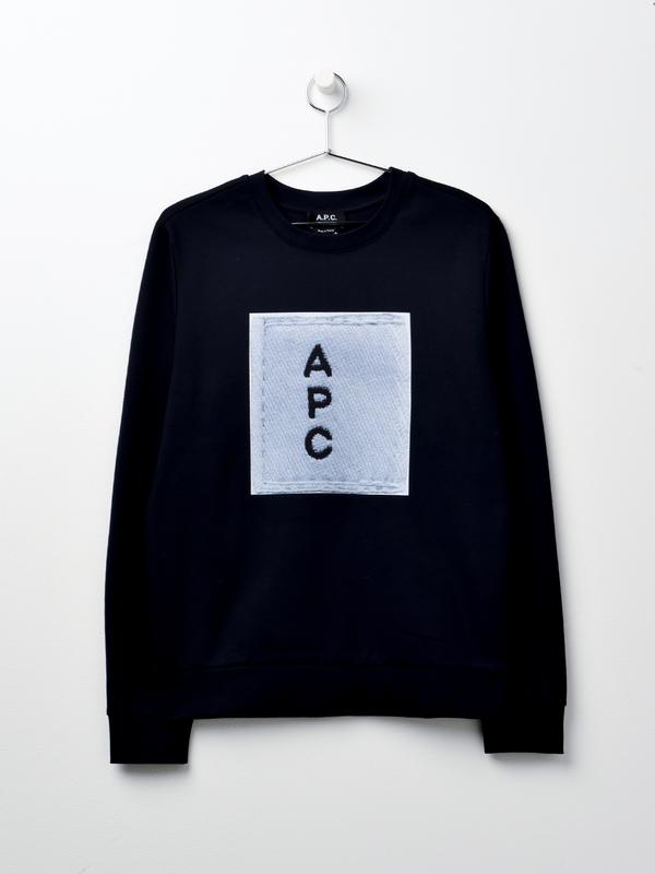 A.P.C. Logo Sweat - Dark Navy