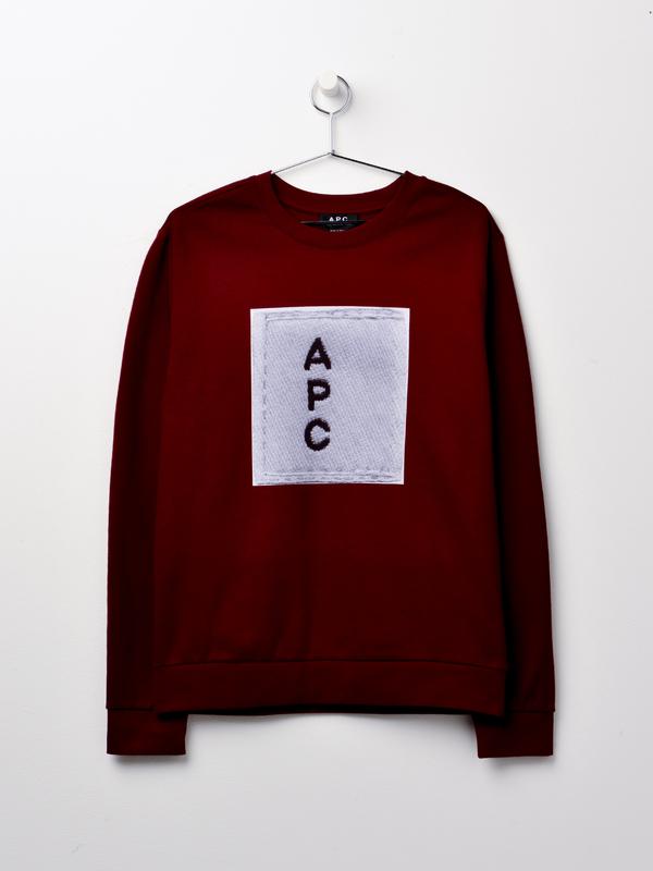 A.P.C. Logo Sweat - Bordeaux