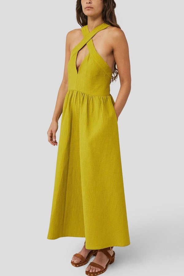 Rachel Comey Terry Dress - Pea Foam