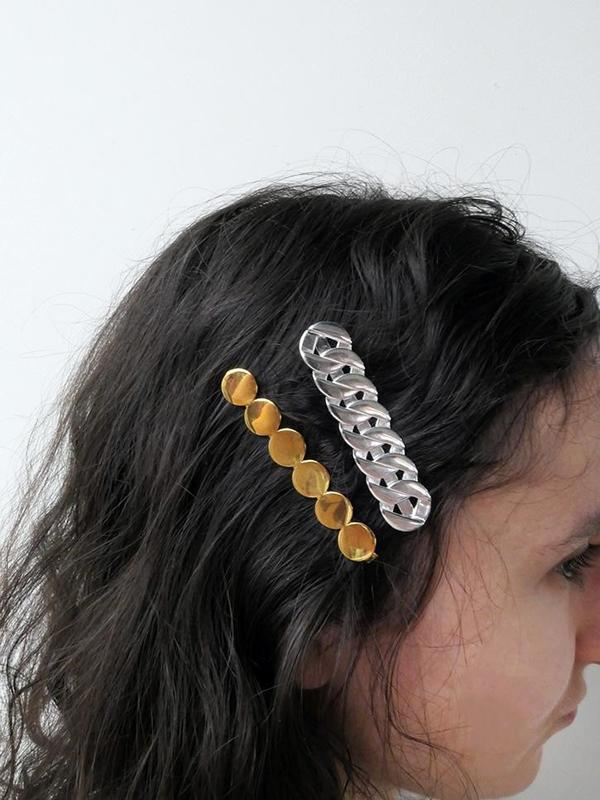Saskia Diez Grand Hair Clip - Silver