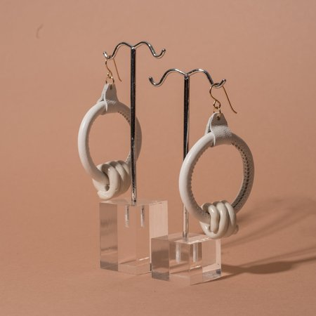 Adder Jewelry Loop Earrings with Clay Coils