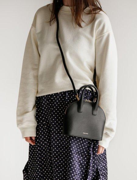 Mansur Gavriel Mini Top Handle Bag - Black/Flamma