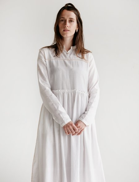 Untitled Co. Phyphy Double Thread Khadi Dress - White