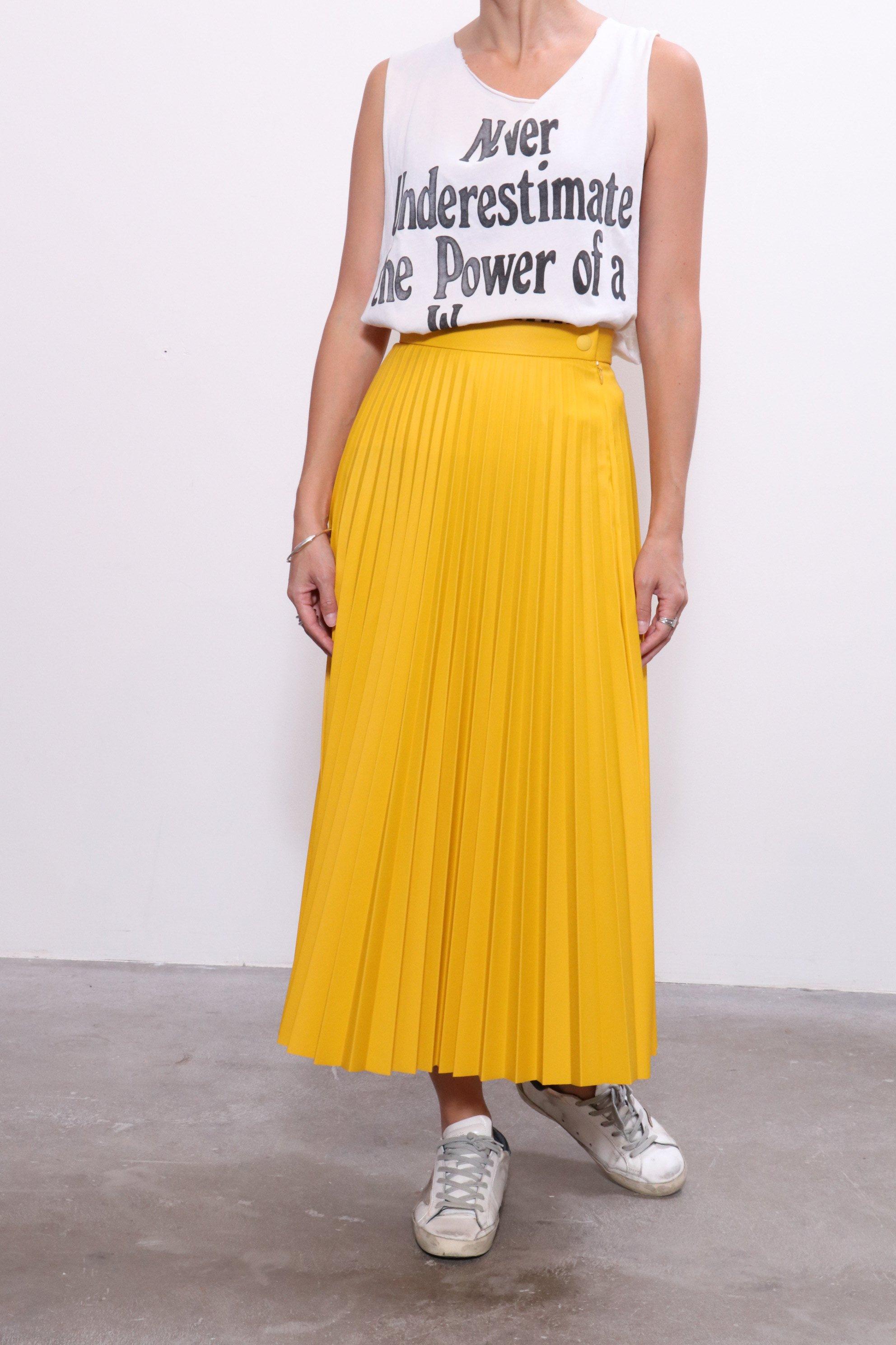 01d10ce4f4 MM6 by Maison Margiela Pleated Skirt - Yellow   Garmentory