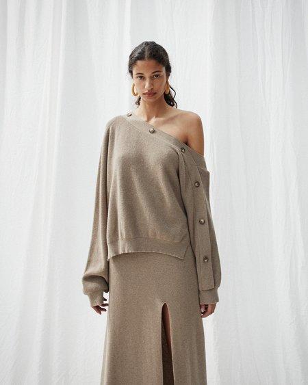 Nanushka CAMERIN Off shoulder sweater - Taupe