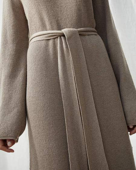 Nanushka CANAAN Knit turtleneck dress - Taupe