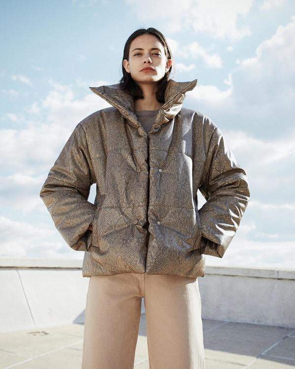 c9a9bc31d Nanushka HIDE Puffer jacket - Brown on Garmentory