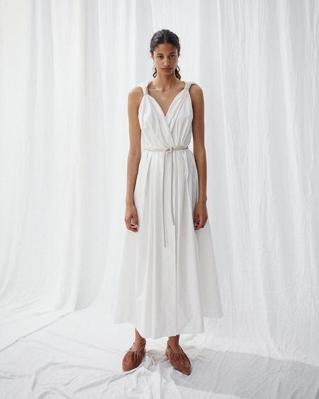 Nanushka LILITH Sleeveless dress with belt - White creme