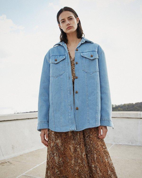 c45e0673a Nanushka NUSTA Denim jacket with faux shearling - 80's wash on Garmentory