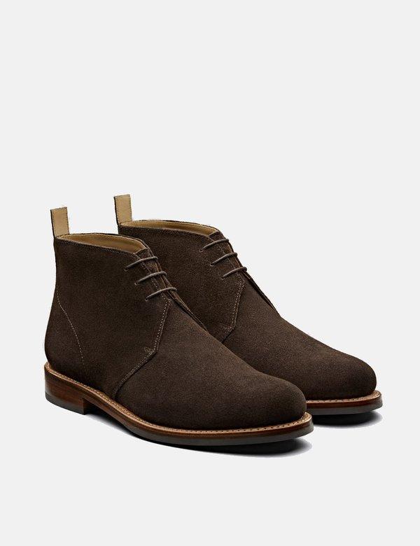 daa4a89dad7e6 Grenson Wendell Suede Chukka - Chocolate Brown   Garmentory