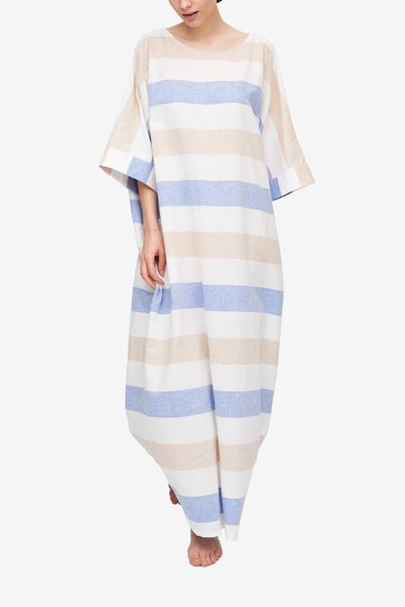 The Sleep Shirt Oversized Kaftan - Big Tan Stripe