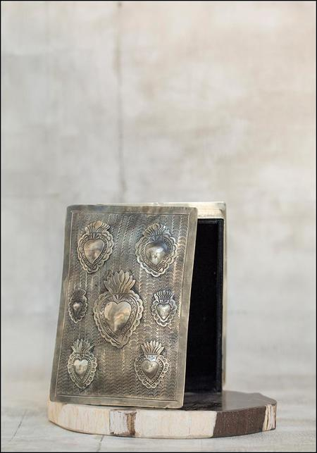 J Alexander Hand Stamped Milagro Box