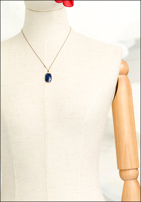 Margaret Solow Drop Necklace - Sapphire/14KT Gold