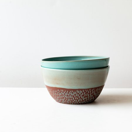 Cam & Céramique Large Salad Bowl - Dark Red Clay Pottery