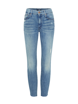 Mother Denim The Looker Step Ankle Fray Jean - Where There's Smoke