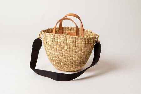 Clare V. Apolline Woven Basket - Natural