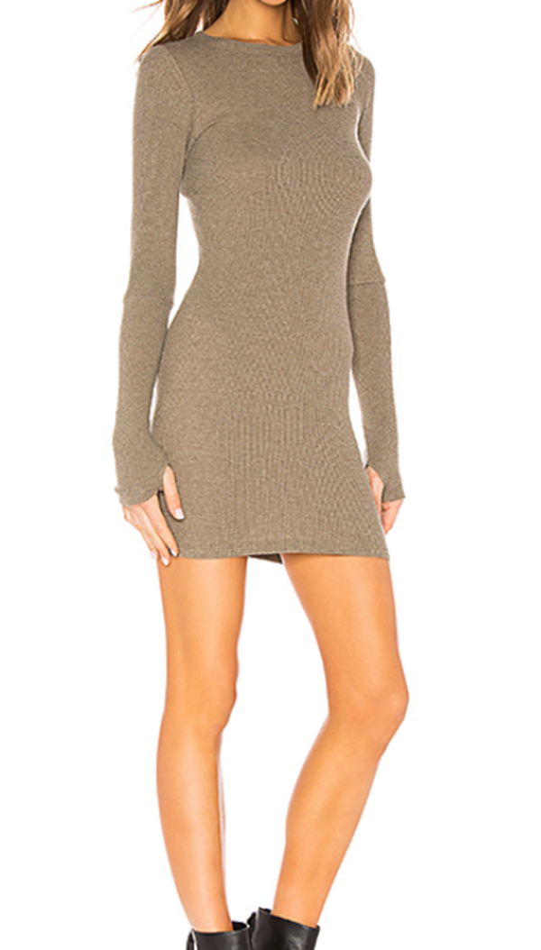 f8df590f27c8 Enza Costa Thermal Mini Dress - Pebble | Garmentory